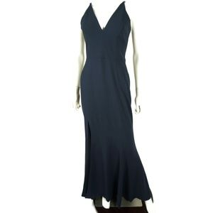 Dress The Population Iris Fluted Gown Blue Small